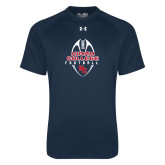 Under Armour Navy Tech Tee-Hiram College in Ball