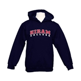 Youth Navy Fleece Hoodie-Arched Hiram College