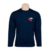 Performance Navy Longsleeve Shirt-HC w/Terrier Head