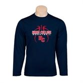 Performance Navy Longsleeve Shirt-Logo in Ball