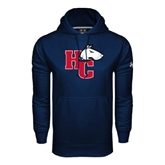 Under Armour Navy Performance Sweats Team Hoodie-HC w/Terrier Head