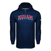 Under Armour Navy Performance Sweats Team Hoodie-Arched Hiram Terriers