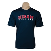 Performance Navy Tee-Arched Hiram Terriers