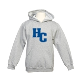 Youth Grey Fleece Hood-HC