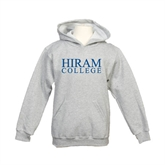 Youth Grey Fleece Hood-Hiram College Institutional