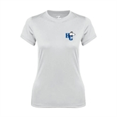 Ladies Syntrel Performance White Tee-HC w/Terrier Head