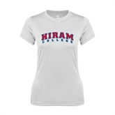 Ladies Syntrel Performance White Tee-Arched Hiram College