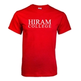 Red T Shirt-Hiram College Institutional