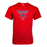 Red T Shirt-Hiram College Terriers on Ball