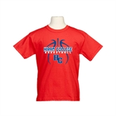 Youth Red T Shirt-Logo in Ball