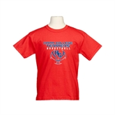 Youth Red T Shirt-Hiram College Terriers on Ball