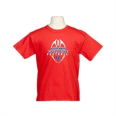 Youth Red T Shirt-Hiram College in Ball