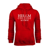 Red Fleece Hoodie-Institutional Logo Alumni
