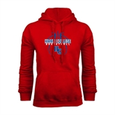 Red Fleece Hoodie-Logo in Ball