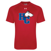 Under Armour Red Tech Tee-HC w/Terrier Head