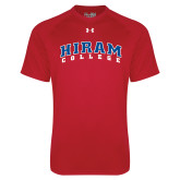 Under Armour Red Tech Tee-Arched Hiram College