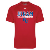 Under Armour Red Tech Tee-Hiram College Terriers w/HC