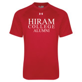 Under Armour Red Tech Tee-Institutional Logo Alumni