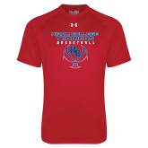Under Armour Red Tech Tee-Hiram College Terriers on Ball