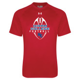 Under Armour Red Tech Tee-Hiram College in Ball