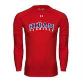 Under Armour Red Long Sleeve Tech Tee-Arched Hiram Terriers