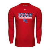 Under Armour Red Long Sleeve Tech Tee-Hiram College Terriers w/HC