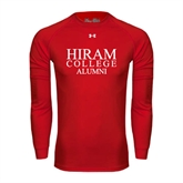 Under Armour Red Long Sleeve Tech Tee-Institutional Logo Alumni
