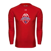 Under Armour Red Long Sleeve Tech Tee-Hiram College in Ball