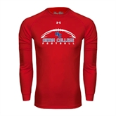 Under Armour Red Long Sleeve Tech Tee-Arched Football Design