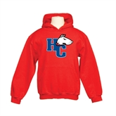 Youth Red Fleece Hoodie-HC w/Terrier Head
