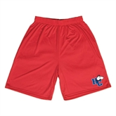 Syntrel Performance Red 9 Inch Length Shorts-HC w/Terrier Head