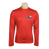 Performance Red Longsleeve Shirt-HC w/Terrier Head