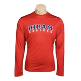 Performance Red Longsleeve Shirt-Arched Hiram College
