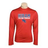 Performance Red Longsleeve Shirt-Hiram College Terriers w/HC