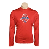 Performance Red Longsleeve Shirt-Hiram College in Ball