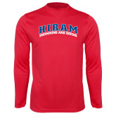 Performance Red Longsleeve Shirt-Swimming & Diving