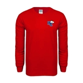 Red Long Sleeve T Shirt-HC w/Terrier Head