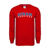 Red Long Sleeve T Shirt-Arched Hiram Terriers