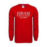 Red Long Sleeve T Shirt-Institutional Logo Alumni