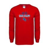 Red Long Sleeve T Shirt-Logo in Ball