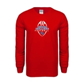 Red Long Sleeve T Shirt-Hiram College in Ball
