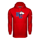 Under Armour Red Performance Sweats Team Hoodie-HC w/Terrier Head