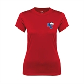 Ladies Syntrel Performance Red Tee-HC w/Terrier Head