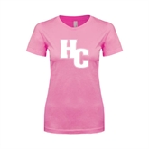 Next Level Ladies SoftStyle Junior Fitted Pink Tee-HC