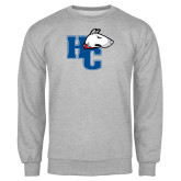 Grey Fleece Crew-HC w/Terrier Head