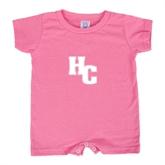 Bubble Gum Pink Infant Romper-HC