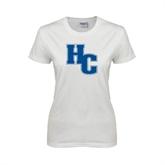 Ladies White T Shirt-HC