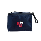 Six Pack Navy Cooler-HC w/Terrier Head