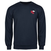 Navy Fleece Crew-HC w/Terrier Head