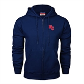 Navy Fleece Full Zip Hoodie-HC